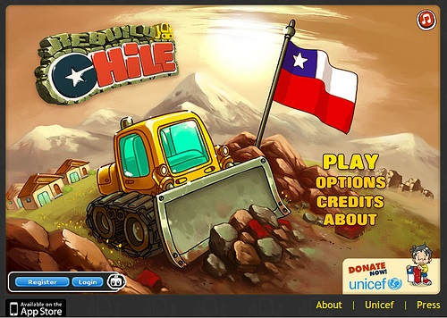 Main Screen of Rebuild Chile Game