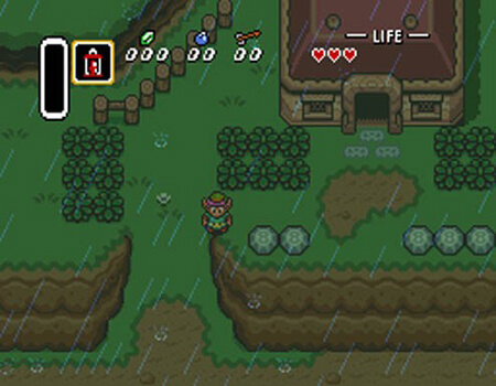 Rain in Zelda: A Link to the Past